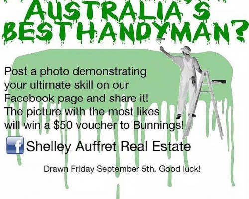 How Handy is your Man!!!! We at Shelley Auffret Real Estate would love for you to show us